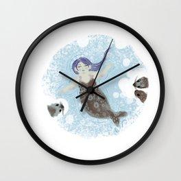 Ice Mermaid Wall Clock