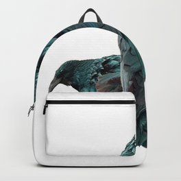 THREE CROWS/RAVENS  SOCIALIZING FROM SOCIETY6 Backpack