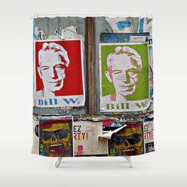 A Bill Among Playbills Shower Curtain