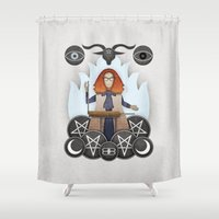 coven Shower Curtains featuring Silver Springs: An Homage to Myrtle Snow by MattBlanksArt