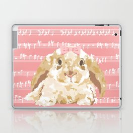 Bunny Composition (beige/pink) Laptop & iPad Skin