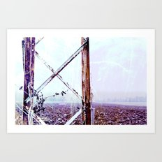 Rusty Pylon Art Print