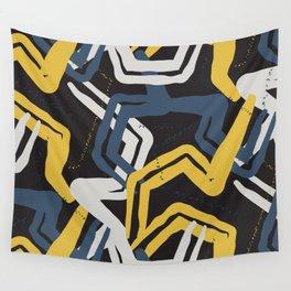 Mustard lines Wall Tapestry