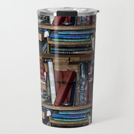 Books on a Shelf Travel Mug