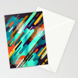 Abstract colorful background with geometric lines  Stationery Cards