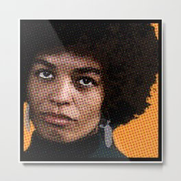 Angela Davis Is Not Having It Metal Print