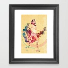 Summer Skating Jam Framed Art Print