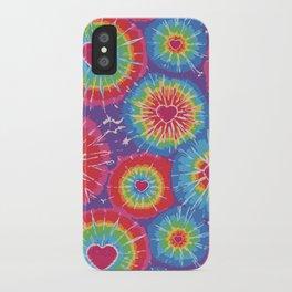 Love Tye Dye iPhone Case
