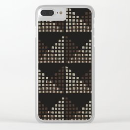 Layered Geometric Block Print in Chocolate Clear iPhone Case