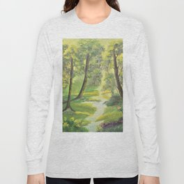 Happy sunny forest Long Sleeve T-shirt