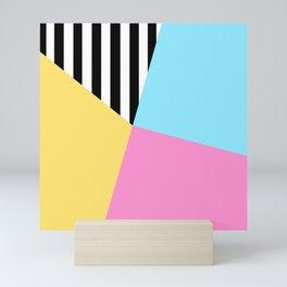 Summer Stripe Sectors Mini Art Print