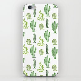 cactus stamp iPhone Skin