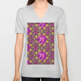 BEAUTIFUL FACETED PINK SAPPHIRES & CITRINES GEMS ART Unisex V-Neck