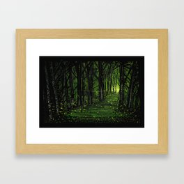 Firefly Forest Framed Art Print