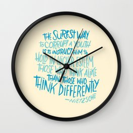Corrupt A Youth Wall Clock