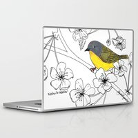 nashville Laptop & iPad Skins featuring Nashville Warbler by Art by Peleegirl