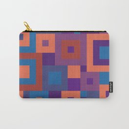Colorful Squares Geometric Shape Patterns Carry-All Pouch