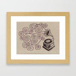 Music Spiralling Framed Art Print