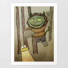 Wild Thing Jumping Art Print