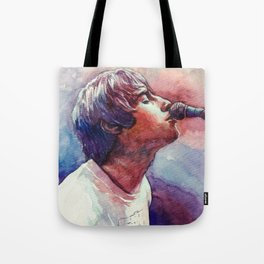 Liam Gallagher Watercolor Painting Tote Bag