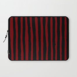 Black and Red Stripes Laptop Sleeve