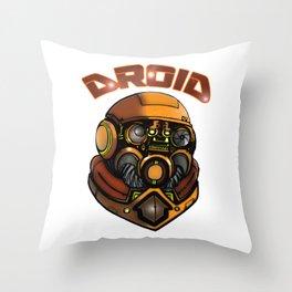 DROID77 Throw Pillow
