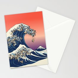 The Great Wave of Pug Stationery Cards