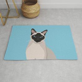 The Regal Siamese Cat Rug