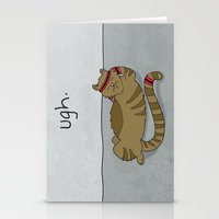 caleb troy Stationery Cards featuring Crunch Cat by Caleb Croy by UCO Design