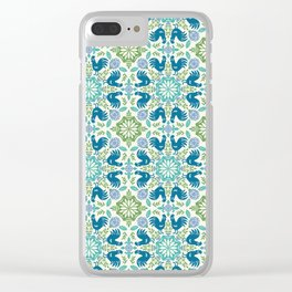Blue Roosters Clear iPhone Case