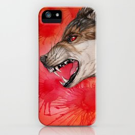 Angry wolf iPhone Case