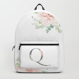 Q - Floral Monogram Collection Backpack
