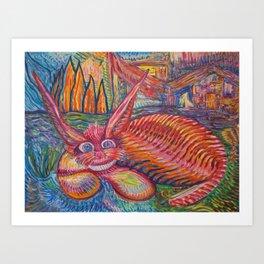 Vaguely Catlike Creature Art Print