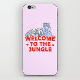 welcome to the jungle - retro tiger iPhone Skin