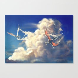 Cloud Dragons Canvas Print