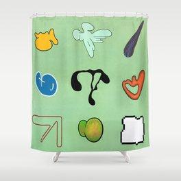 Sinx Mint (oil on canvas) Shower Curtain