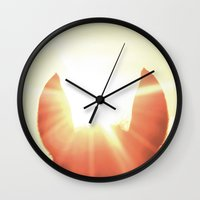 focus Wall Clocks featuring Focus by Jake Stanton