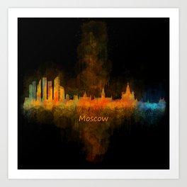 Moscow City Skyline art HQ v4 Art Print