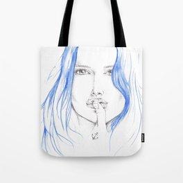 Navy Girl Tote Bag