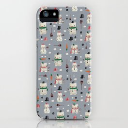 Snowanimals iPhone Case