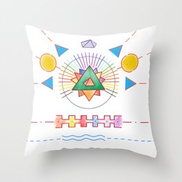 PowerLines 18 Throw Pillow