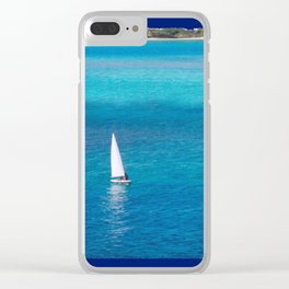 Perfect Blue Sailing Day Clear iPhone Case