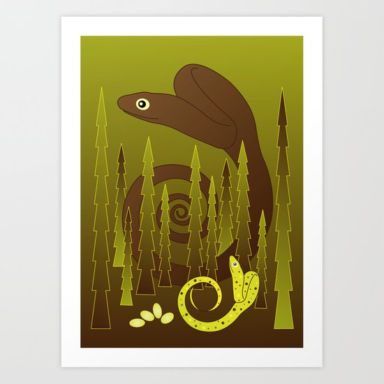Serpent Art Print