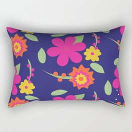 Funky Florals Rectangular Pillow
