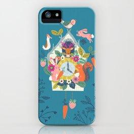 Cuckoo (Teal) iPhone Case