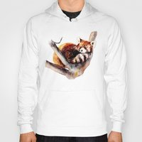 red panda Hoodies featuring Red Panda by Anna Shell