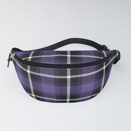 Ultra Violet color themed plaid SCOTTISH TARTAN Checkered Fabric Pattern background. Fanny Pack