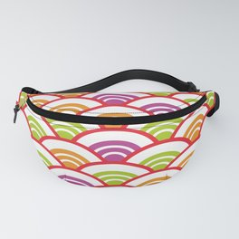 Seigaiha or seigainami literally means wave of the sea. Abstract japanese scales Fanny Pack