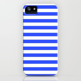 Even Horizontal Stripes, Blue and White, M iPhone Case