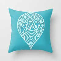 istanbul Throw Pillows featuring istanbul by creaziz